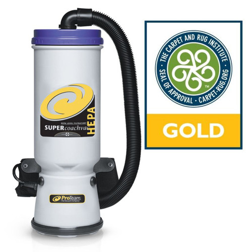 This Gold certified and powerful 99.9% high filtration vacuum is ideal for vacuuming high square-footage areas that require the utmost cleanliness.