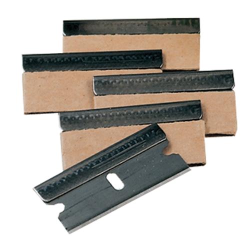 "5 Pack of 1-1/2"" standard No. 9 Single Edge Razor Blades."