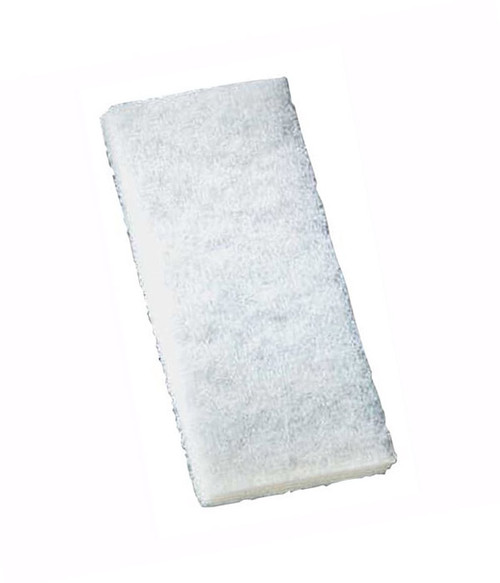 3M Doodlebug 8440 White Cleaning Pad - For cleaning and light scrubbing of delicate surfaces.