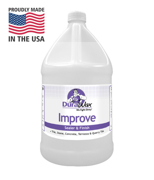 Improve Floor Sealer stands up to heavy traffic without discoloring.