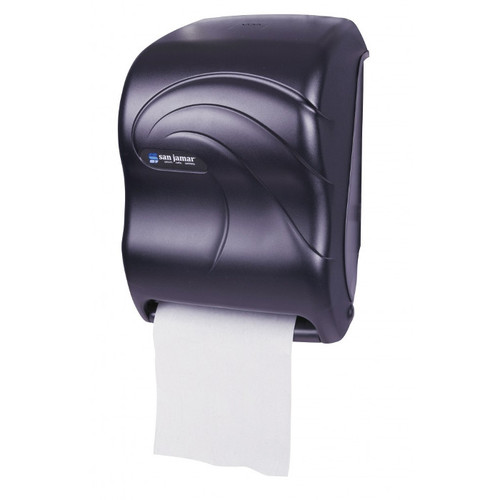 The Tear N Dry touchless paper towel dispenser offers improved hygiene over traditional dispenser.