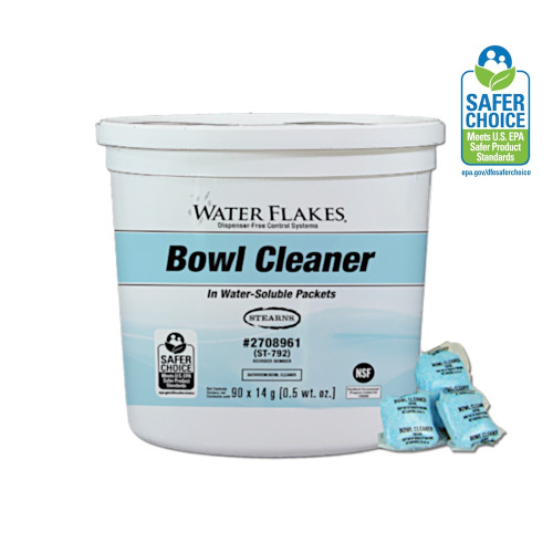 Specially formulated blend of enzymes and detergents immediately attacks organic waste and urinary salts resulting in an exceptionally clean toilet bowl.