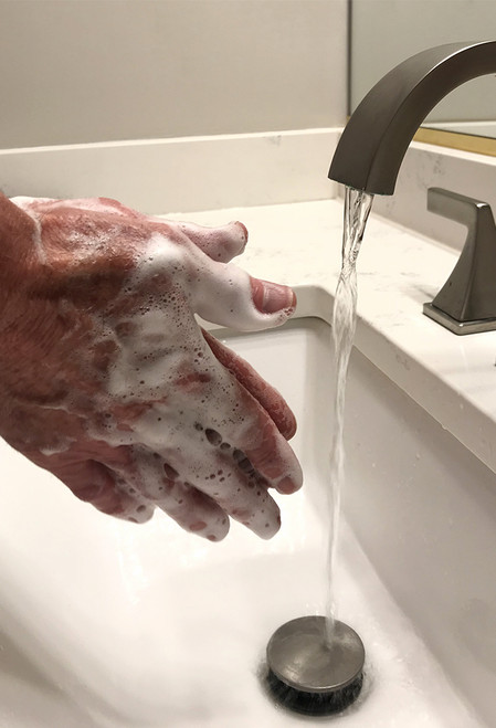 Gentle Foam Luxe Hand Soap uses up to 40% less soap when hand washing.