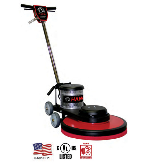 "The Hawk  20"" High Speed Burnisher is the choice for professionals who know floors!"
