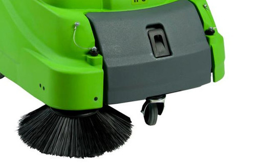 Brush picks up debris ini corners and along baseboards better than a vacuum.