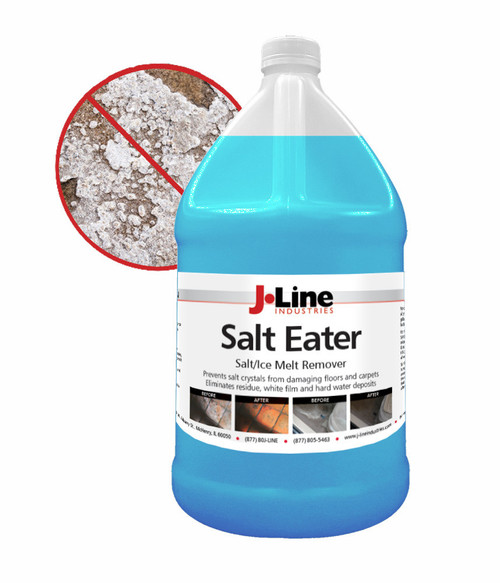 Neutralize Salt and Rinse in ONE Step! Uses chelating agents to suspend the salt and chloride in a solution and removes them from your floor or mat.
