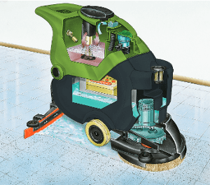 Illustration of CT40 autoscrubber