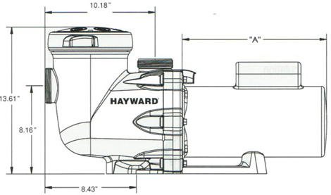 Hayward Tri-Star Swimming Pool Pump dimensions