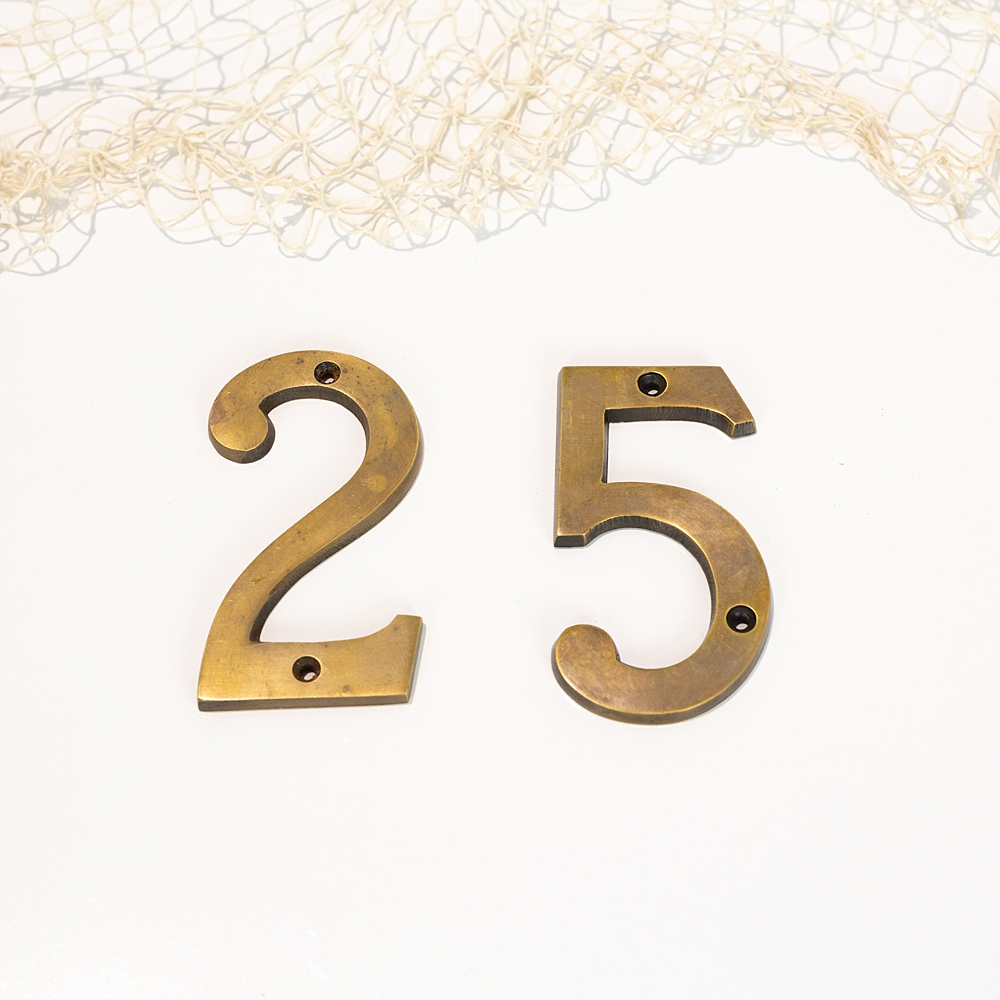 Brass House Numbers