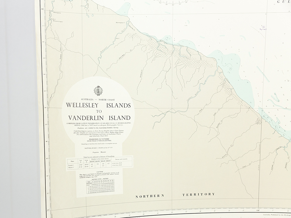 NT - Wellesley Island to Vanderlin Island Chart/Map