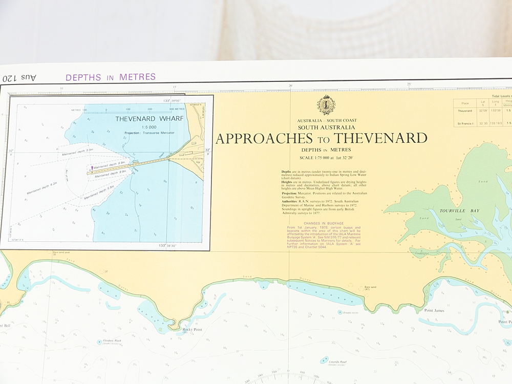 SA - Approaches to Thevenard  Chart/Map