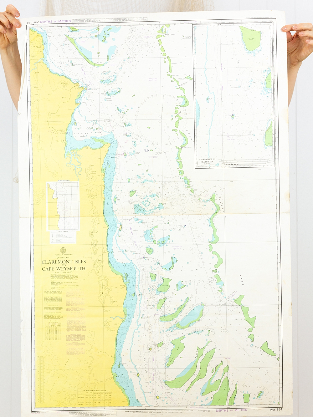 Claremont Isles to Cape Weymouth QLD Chart/Map