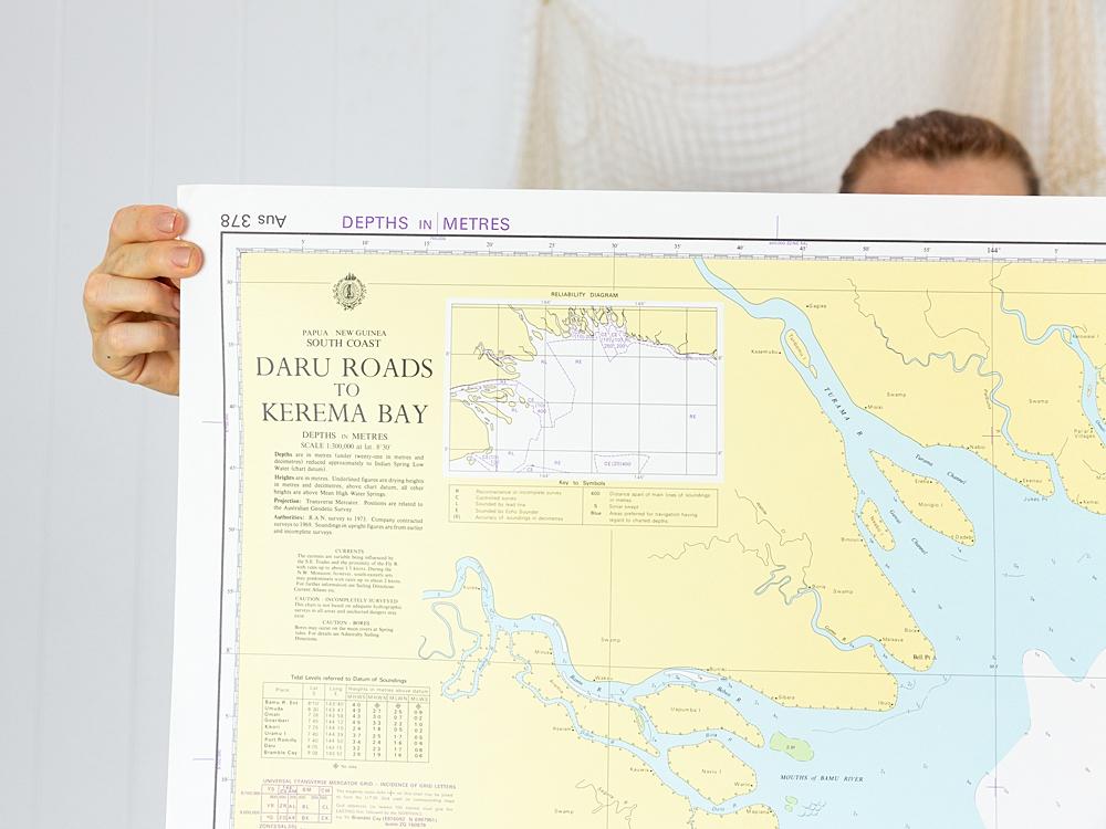 PNG - Kerema Bay Chart/Map
