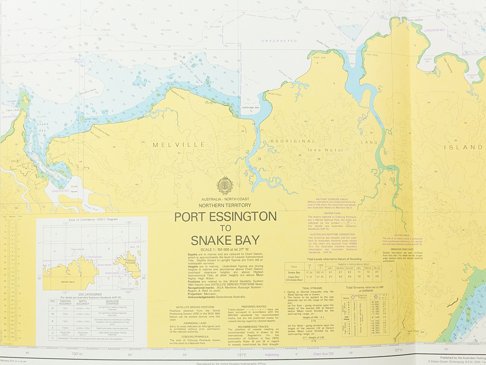 NT - Port Essington - Snake Bay Chart/Map