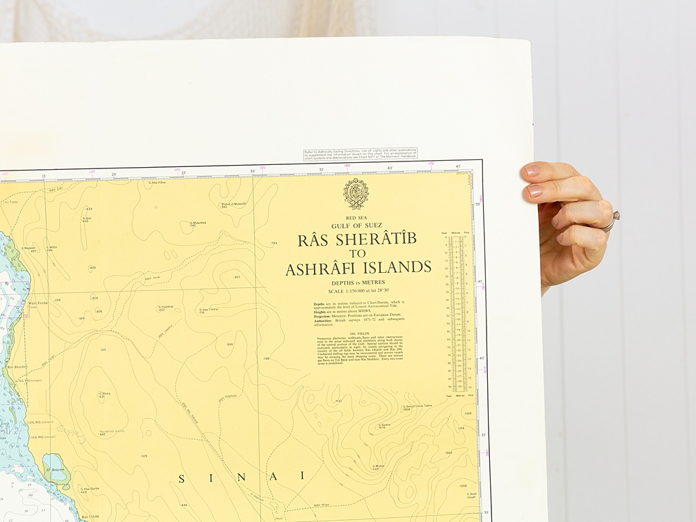 Red Sea - Ras Sheratib Chart/Map