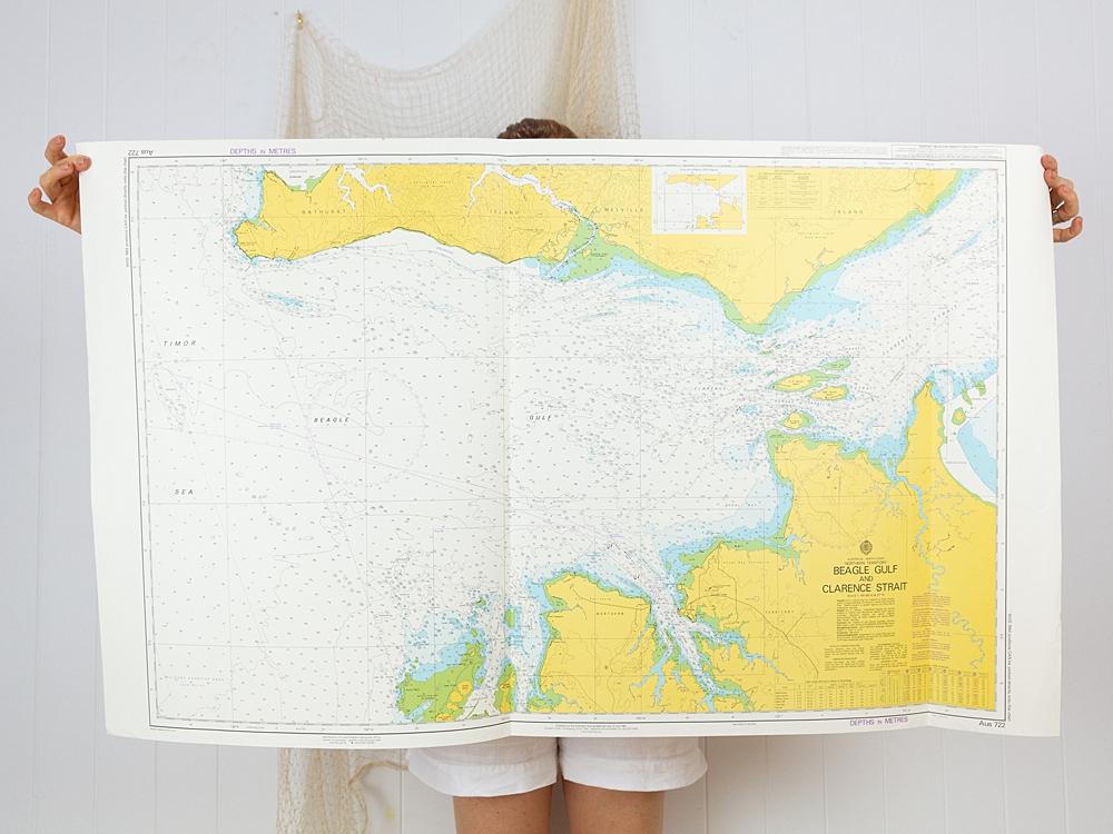 Beagle Gulf & Clarence Strait NT Chart/Map