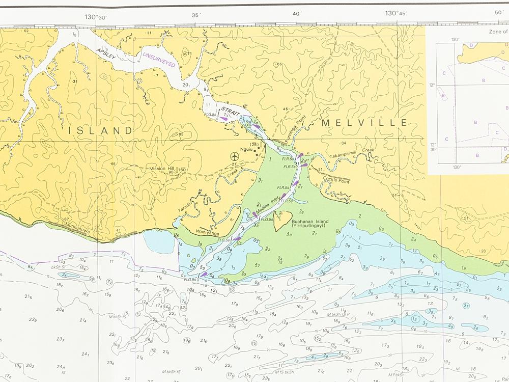 NT Beagle Gulf & Clarence Strait Chart/Map