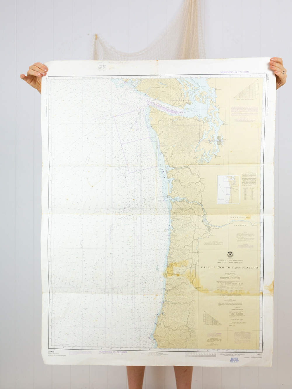 United States West Coast Chart/Map