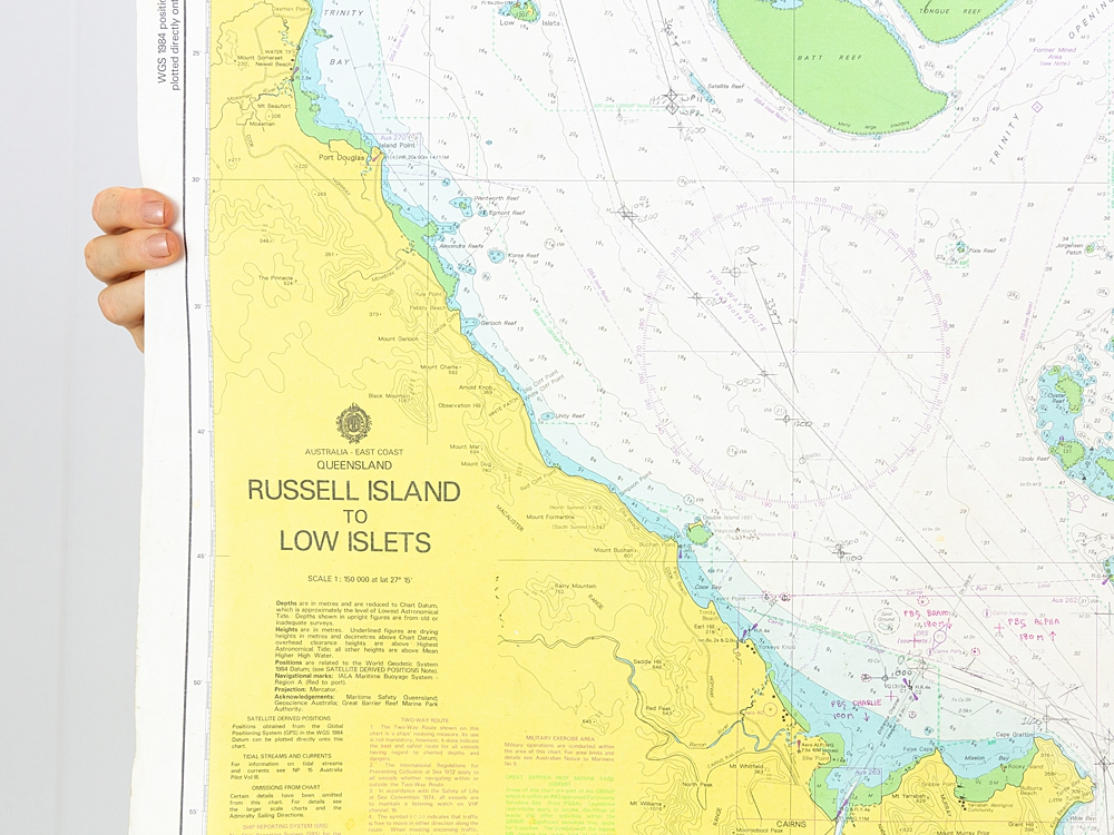 QLD - Russel Island to Low Islets Chart/Map