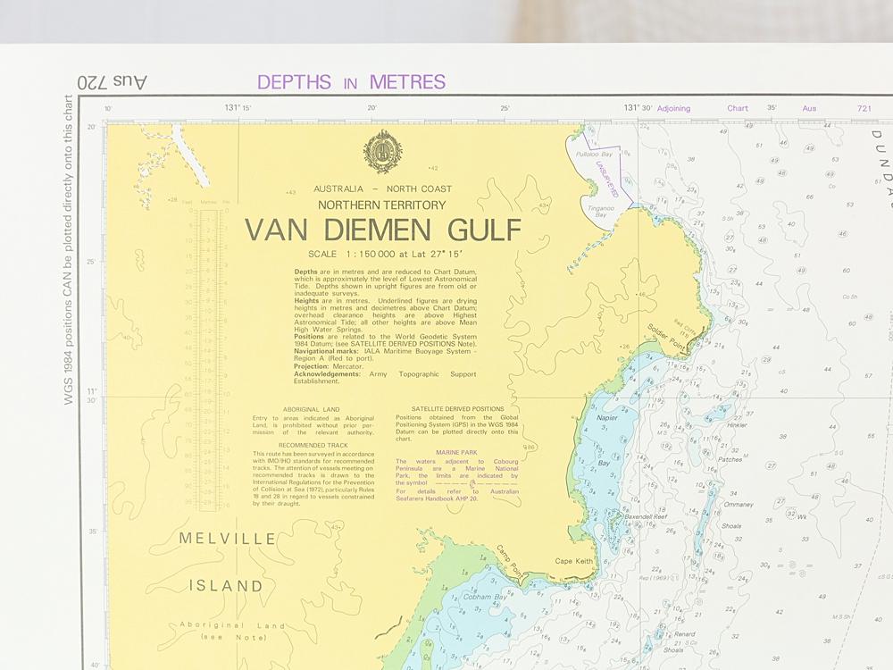 TAS- Van Diemen Gulf Chart/Map