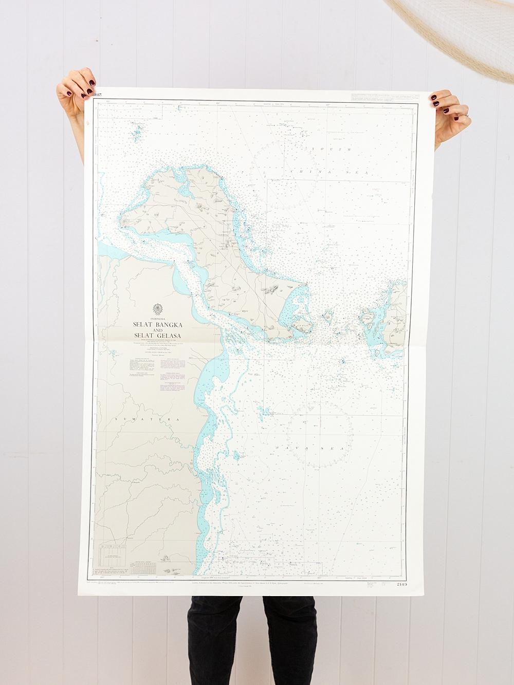 Indonesia - Selat Bangka and Selat Gelasa Chart/Map