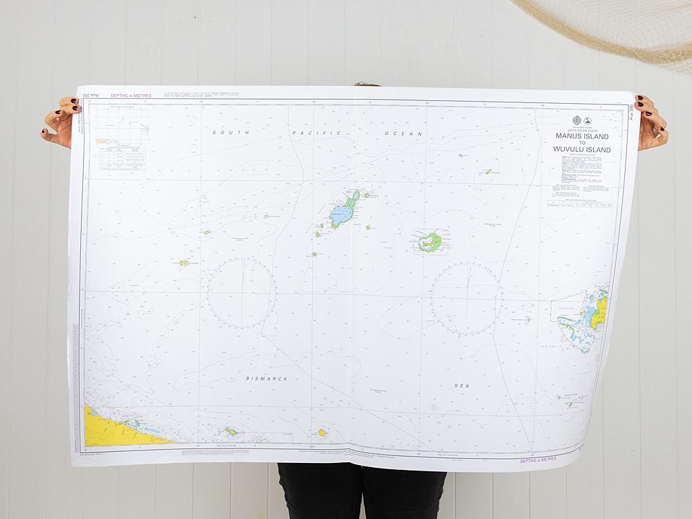 South Pacific - Manus Island to Wuvulu Island Chart/Map