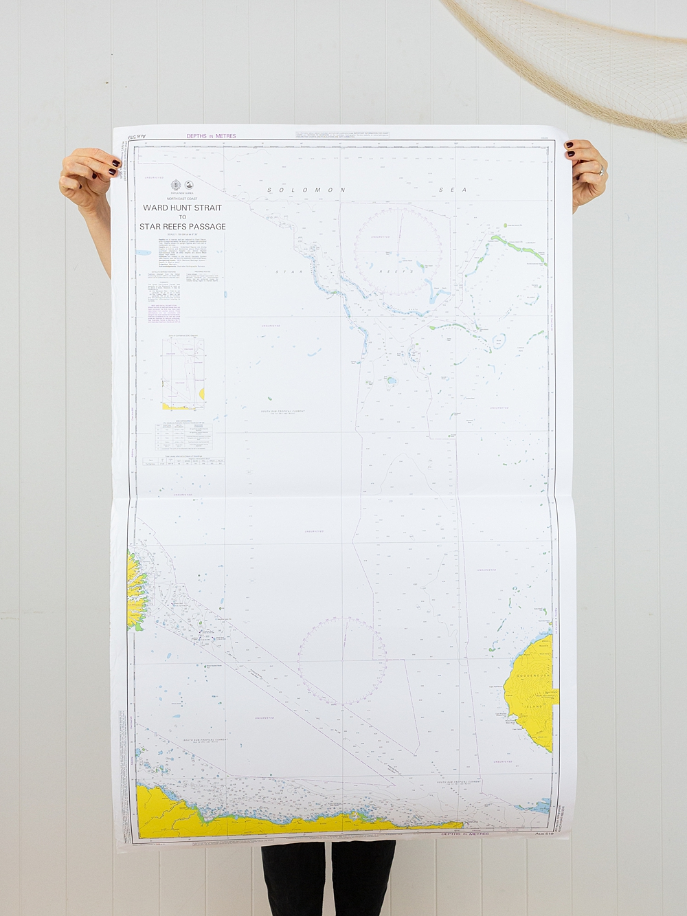 PNG - Ward Hunt Strait to  Star Reef Passage Chart/Map
