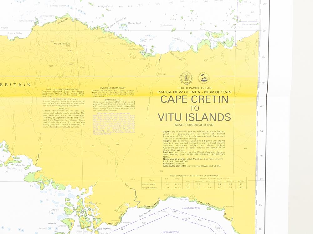 PNG - Cape Cretin to Vitu Islands Chart/Map