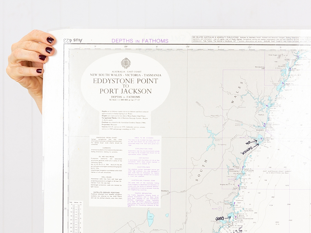 TAS-VIC-NSW  Eddystone Point to Port Jackson  Chart/Map