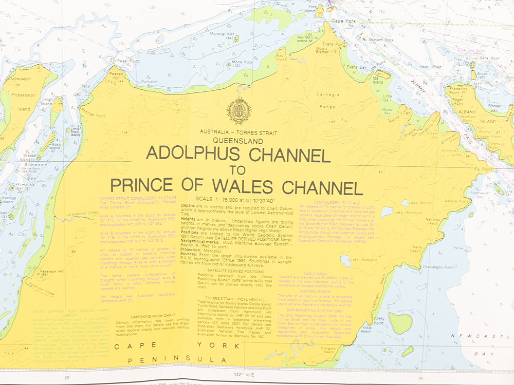 QLD - Adolphus Channel to Prince of Wales Channel Chart/Map
