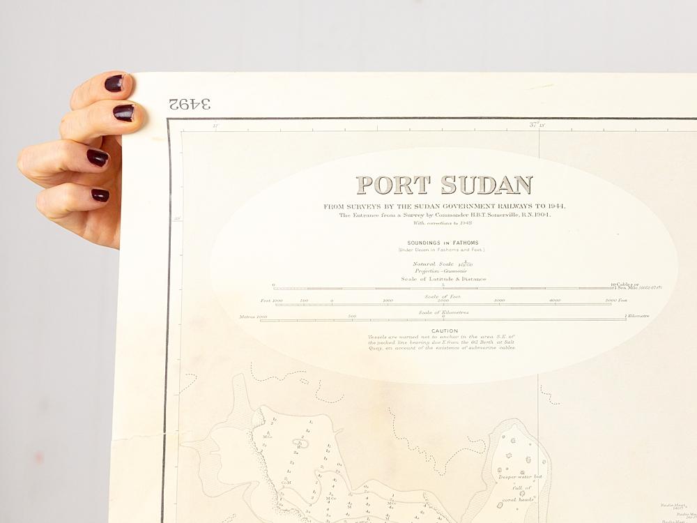 Red Sea - Port of Sudan Chart/Map