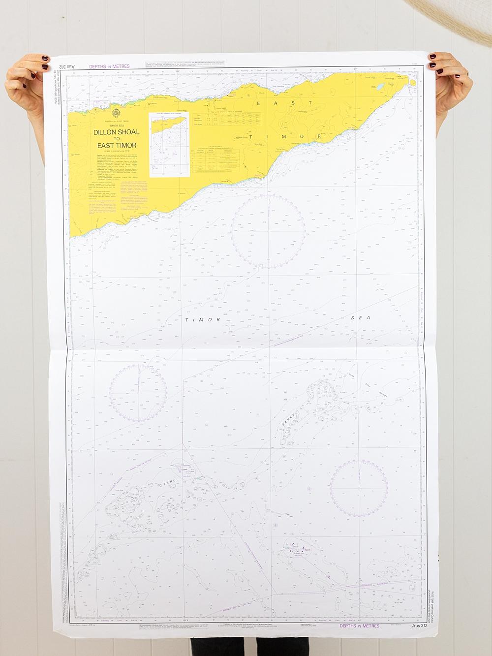 Timor Sea - Dillon Shoal to East Timor Chart/Map
