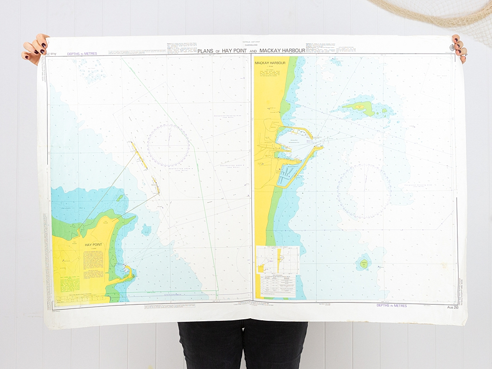 QLD - Plans of Hay Point and Mackay Harbour Chart/Map