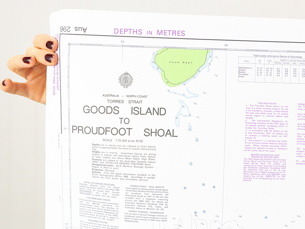 Torres Strait - Goods Island to Proudfoot Shoal Chart/Map