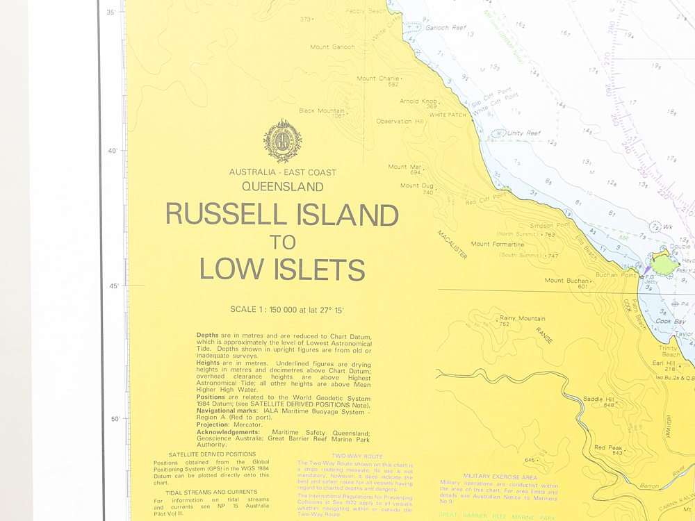 QLD - Russell Island to Low Islets Chart/Map