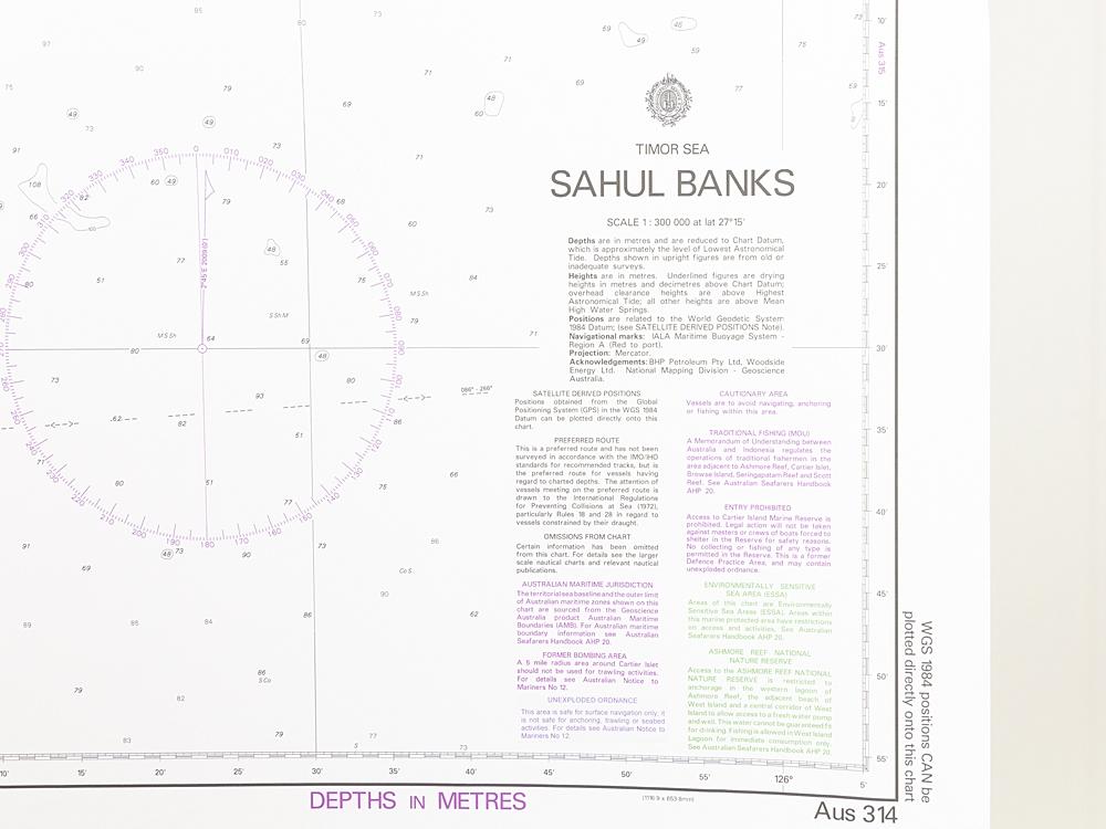Timor Sea - Sahul BanksChart/Map