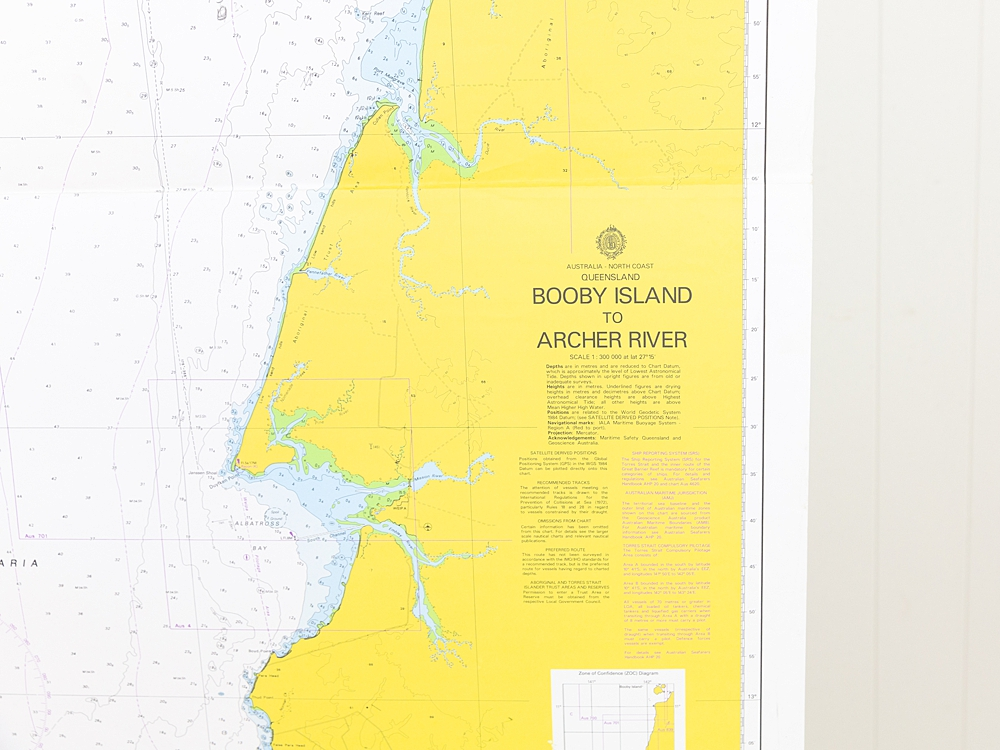QLD - Booby Island to Archer River Chart/Map