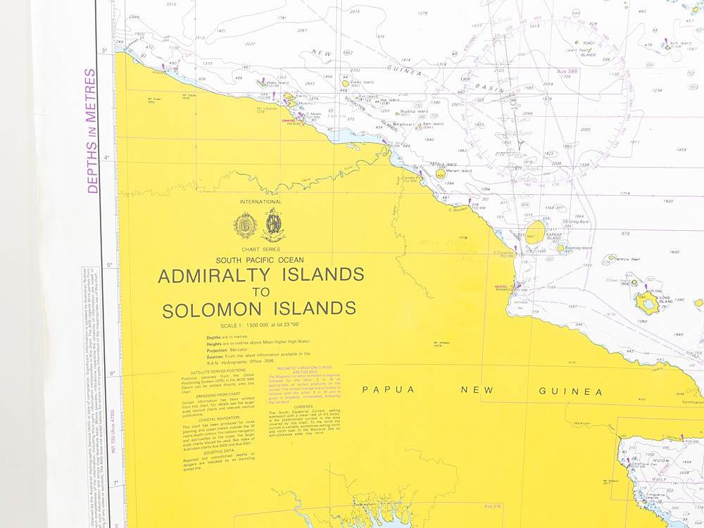 South Pacific - Admiralty Islands to Solomon Islands  Chart/Map
