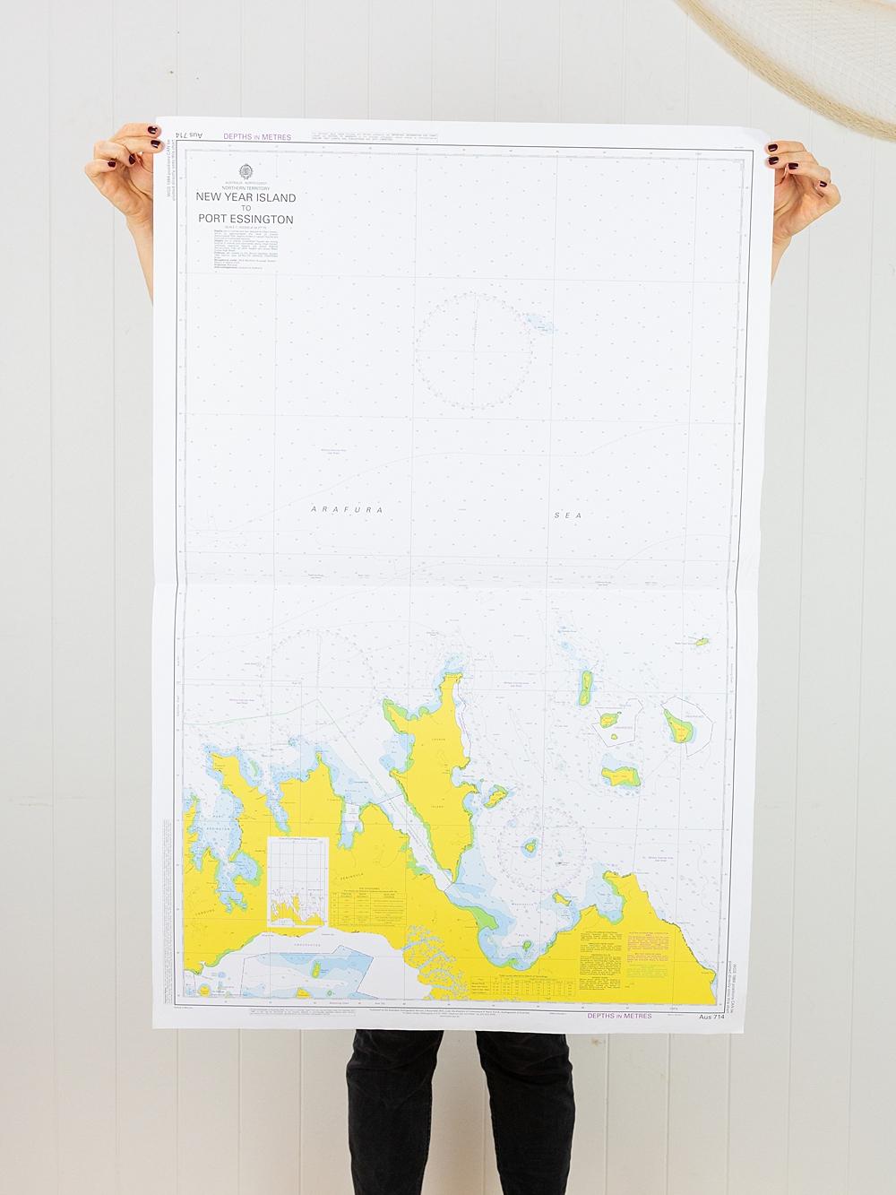 NT - New Year Island to Port Essington  Chart/Map