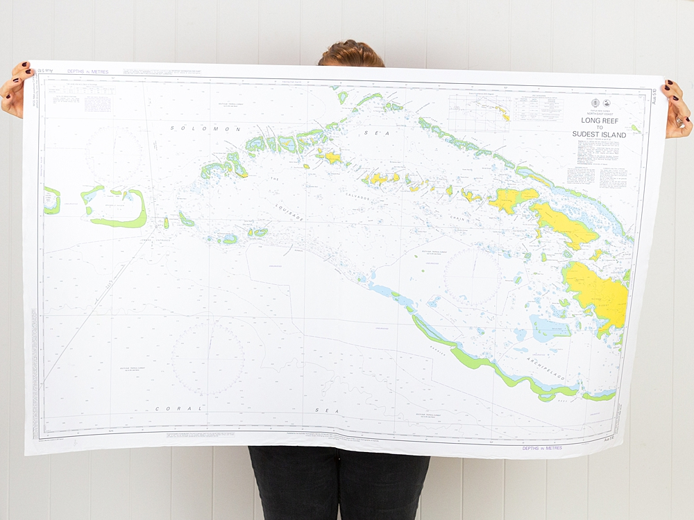 PNG - Long Reef to Sudest Island Strait Chart/Map