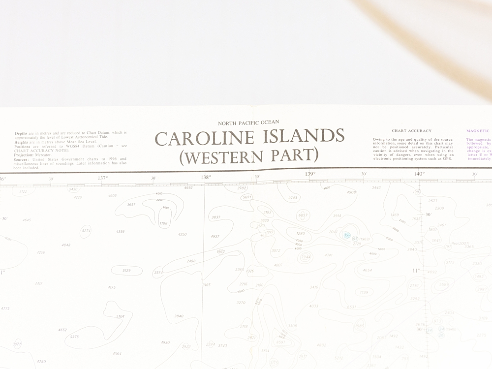 North Pacific - Caroline Islands Chart/Map