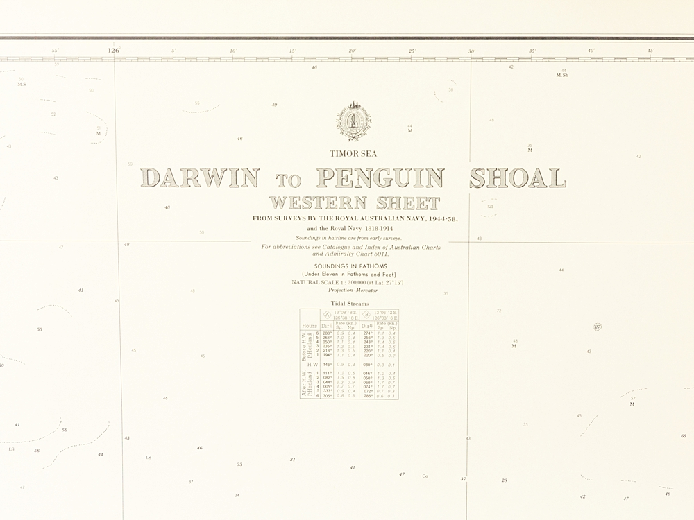 Timor Sea - Darwin to Penguin Shoal  Chart/Map