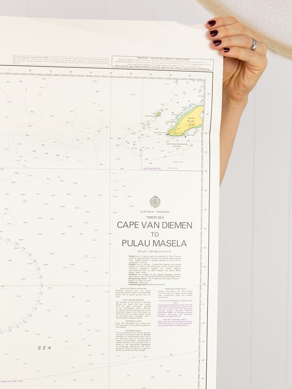 Timor Sea - Cape Van Dieman to Pulau Masela Chart/Map