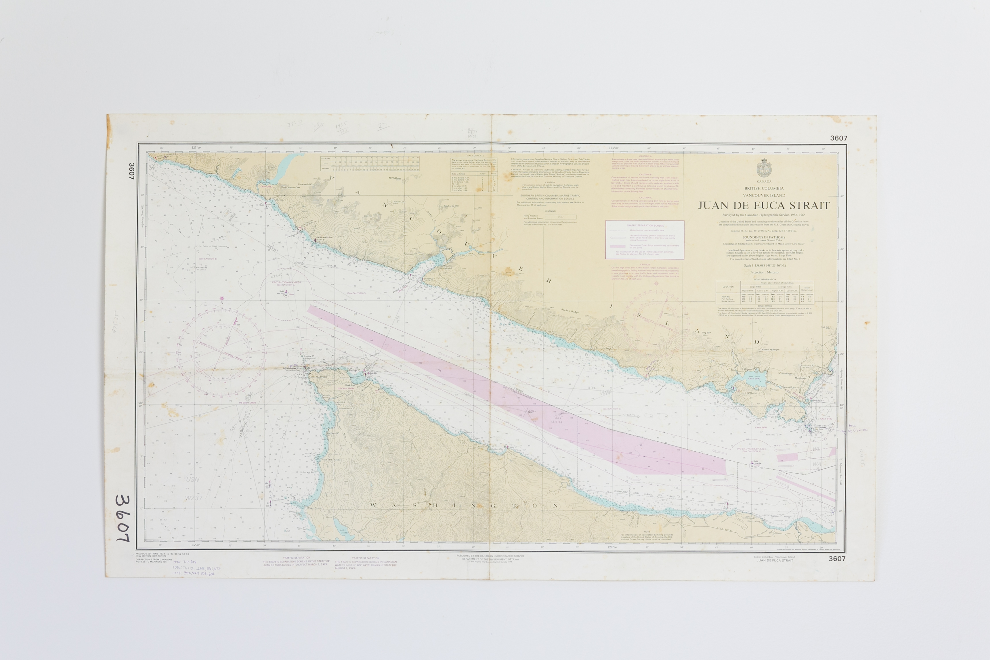 Juan De Fuca - Canada Chart/Map