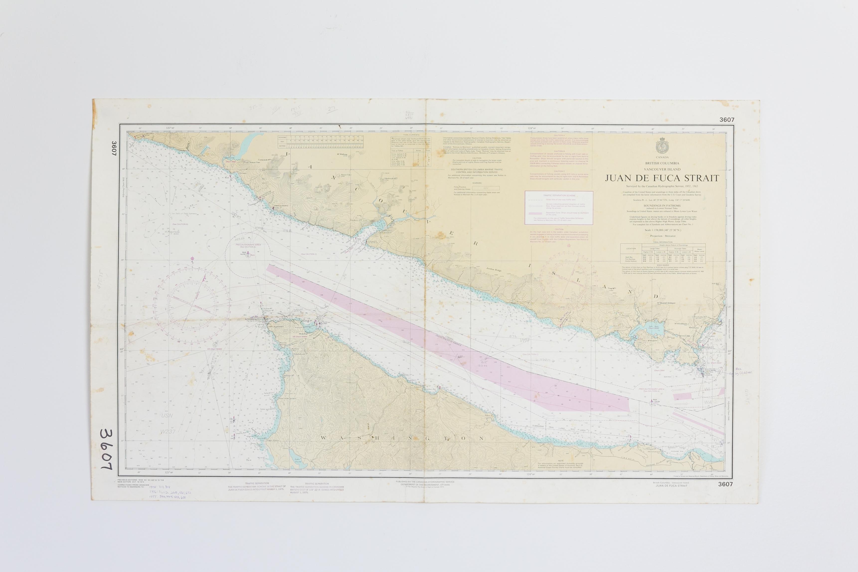 Canada - Juan De Fuca Chart/Map