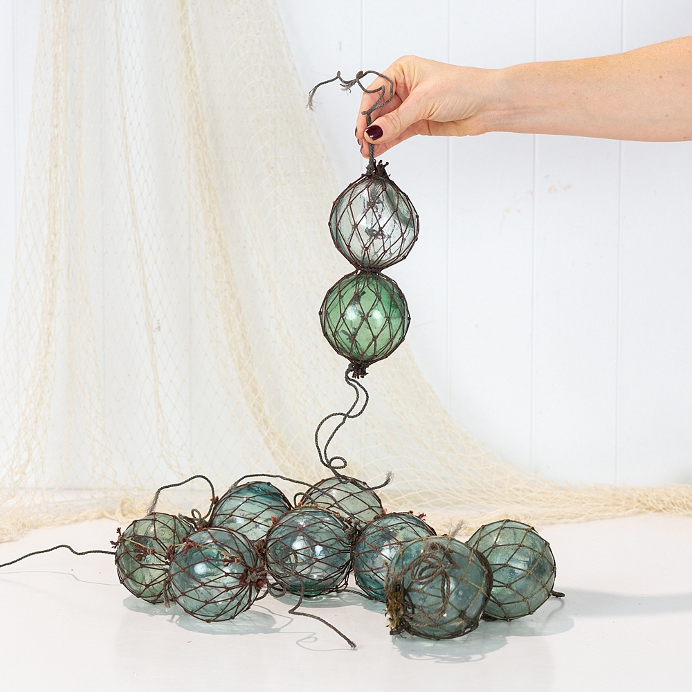 Double Netted Glass Float - Dark Rope #2445