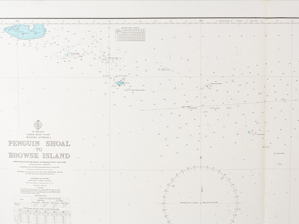 WA - Penguin Shoal to Browse Island  Chart/Map