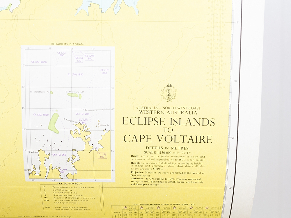 WA - Eclipse Islands to Cape Voltaire Chart/Map