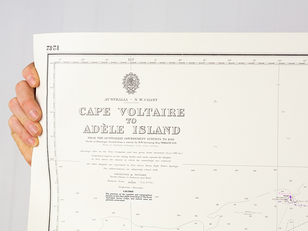 WA - Cape Voltaire to Adele Island Chart/Map