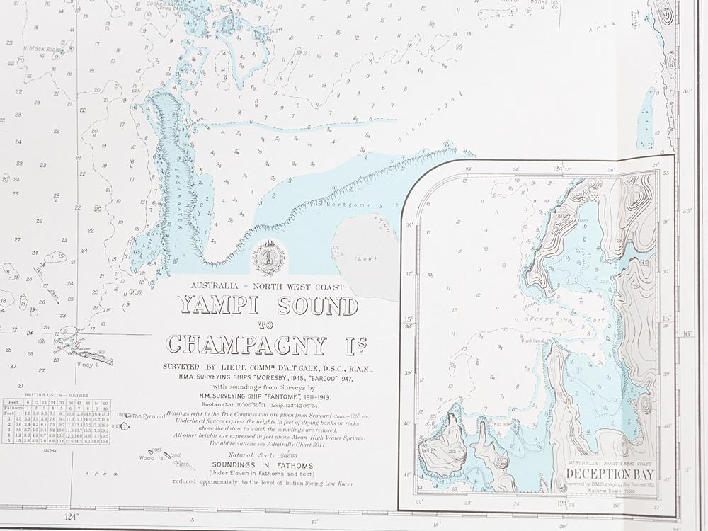 WA - Yampi Sound to Champagny Island Chart/Map